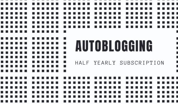Autoblogging Half-Yearly Subscription - Standard Pack