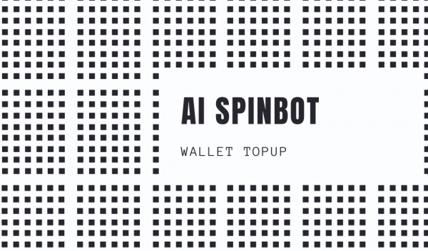 Wallet Topup for Spinbot
