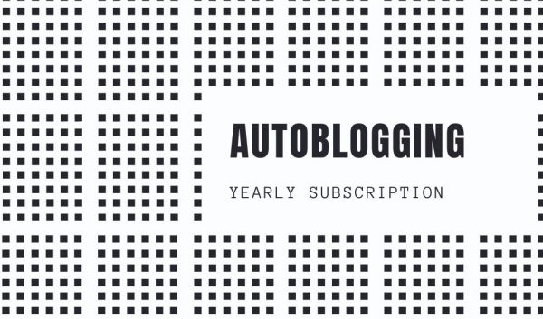 Autoblogging Yearly Subscription - Ultra Pack